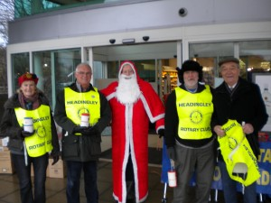 Christmas collection at Sainsbury's Moortown collected £457.44 for local charities