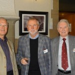 President Nick welcomes Paul Kennedy (centre) accompanied by his proposer, Geoff Tabron