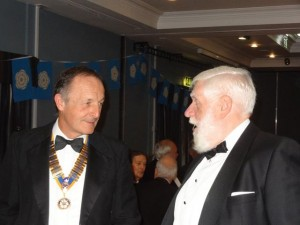 Pete Heald, President of Otley RC with President Elect Iain