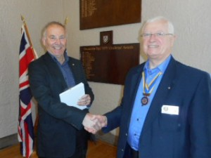 Chris Walbank welcomes Bill Jones