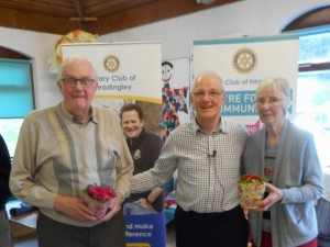 The Runners-up Roger and Valerie Brook receive their prizes