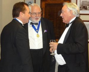 Robert Morphet (Left) and Prof Mike Green (right) speak to ?????