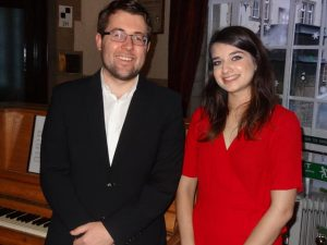 Jonathan Drummond and Sarah Knight from Leeds Youth Orchestra